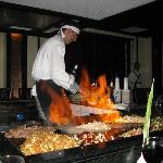 Chef au restaurant Sakuru