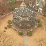 圜丘壇(ホァングダン)側の部屋からの眺め