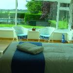 En-suite twin/superking room with conservatory and superb views
