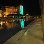Pool side view at night...