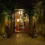 cour intérieur et salon