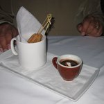 Churros with Mexican chocolate dipping sauce
