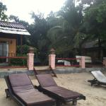 resort's sun chairs on the beach :)