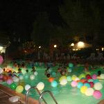 Pool party at night