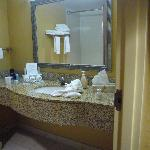 Spacious Granite Sink in Bathroom