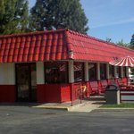 The Iconic outside of a once hotdog stand.
