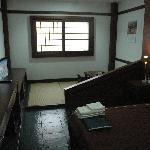 部屋の内部に狭いながら畳のスペースがあり、落ち着きます。