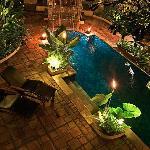 View from Villa Bamboo Balcony