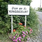 Welcome to Kingscourt Cavan Ireland sign outside Hollow Stream B&B
