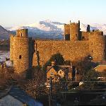 Harlech Castle from Maelgwyn