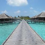 Water bungalows at Four Seasons Resort Maldives at Kuda Huraa