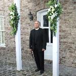 Officiant in Courtyard of 109 West
