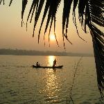 sunrise over the backwaters