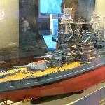 Model ships in the museum
