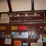 Chocolate sign interior - Cioccolandia