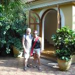 My wife and I at the Guesthouse