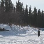 Skiing on the Chena River