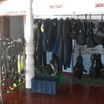 Well equipped dive shop