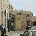 View of Guest House, gate on the left, coming from the Jaffa Gate entrance.