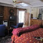 Big bed, nice fireplace