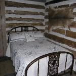 Sleep in an original Log Cabin from 1850
