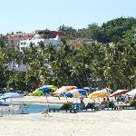 The beach near by the hotel