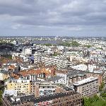 聖ミヒャエル教会の塔の上からの眺め