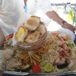 Order the seafood platter!