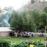Tent Picnic area near river
