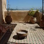 terrasse de la suite Driss
