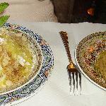 Agneau à la semoule aux raisins à la canelle et au miel