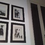 prints in our room next to the large shutter windows