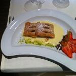 Apfelstrudel Dessert im Panorama Restaurant