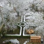 Blick vom Schlafzimmer in den Garten