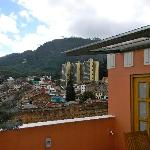view from the roof of the hotel...Cerro Monserrate in background