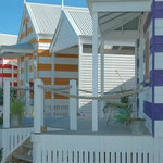 colourful beach huts middleton