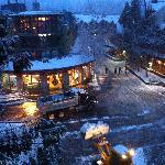 Bulldozers scraping up snow at 4.30am!