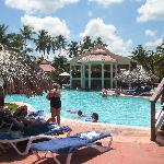 Main Large pool on Punta Cana side ... Open to both hotel guests. Pool bar well serviced.
