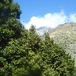 Tantalizing glimpse of the Rob Roy Glacier above us--WAY above!