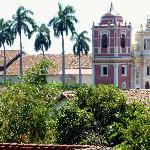 La Iglesia del Calvario from the rooftop patio.