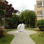 Sculpture in corridor