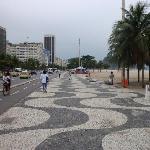 paseo de la playa de Copacabana, frente al hotel