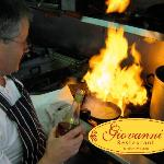 Giovanni cooking at Giovanni's Italian Restaurant in Dickens Heath, Solihull