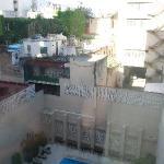 piscina del hotel, desde la habitación, piso octavo