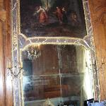Antique Mirror and Painting: Living Room