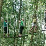 A group in the blue circuit of Bali Treetop