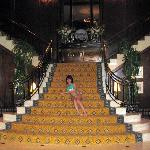 The grand staircase in lobby