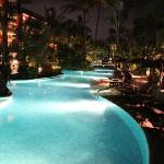 Lagoon Pool at Night