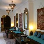 Poolside salon Riad Shemsi Marrakech