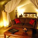Luxury safari lodge with hot tub